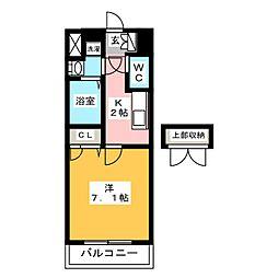 サヴォイスタジオスイーツ[6階]の間取り