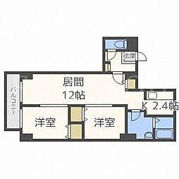 北海道札幌市西区宮の沢三条5丁目の賃貸マンションの間取り