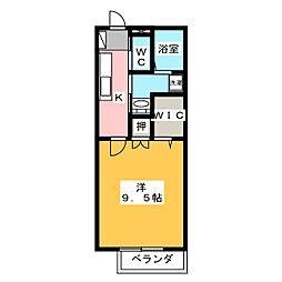 静岡県静岡市清水区草薙杉道3の賃貸アパートの間取り