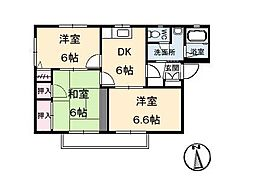 ディアス芳居 A・B・C棟[2階]の間取り
