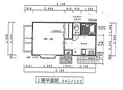 斉藤アパート 1階1Kの間取り