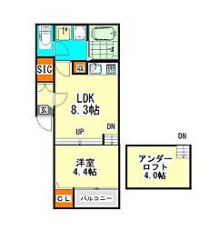 仮称)坂井戸町コーポ(カショウサカイトマチコーポ)[1階]の間取り