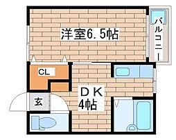兵庫県神戸市長田区山下町3丁目の賃貸アパートの間取り