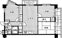 フォレスト・ヴィラ平尾山荘[4階]の間取り