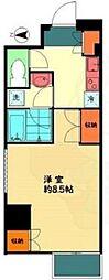 東京メトロ千代田線 乃木坂駅 徒歩2分の賃貸マンション 7階1Kの間取り