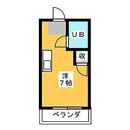 メゾンド アミ[2階]の間取り