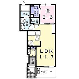美オーラハウスA[1階]の間取り