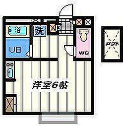 埼玉県吉川市保の賃貸アパートの間取り