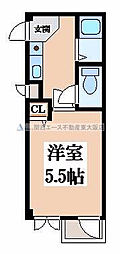 ロンモンターニュ小阪[3階]の間取り