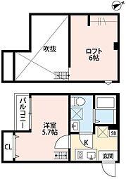 埼玉県川口市北原台1の賃貸アパートの間取り