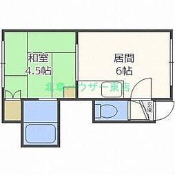 北海道札幌市東区北二十六条東2丁目の賃貸アパートの間取り