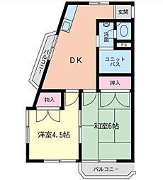 神奈川県横浜市西区花咲町5丁目の賃貸マンションの間取り