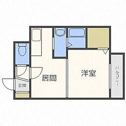 エクセレントハウス豊平37[107号室]の間取り