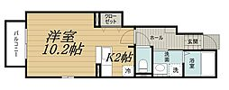 千葉県千葉市中央区道場北1丁目の賃貸アパートの間取り