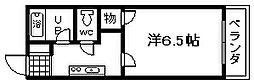 大阪府泉佐野市羽倉崎上町1丁目の賃貸アパートの間取り