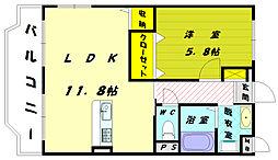福岡県福津市日蒔野6の賃貸マンションの間取り