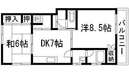 [一戸建] 兵庫県川西市緑台2丁目 の賃貸【/】の間取り