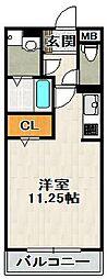 ボヌビー宝塚[102号室]の間取り