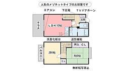 プレステージ21 B棟[102号室]の間取り