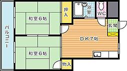 プレアール鷹の巣II[3階]の間取り