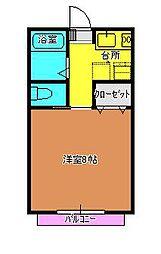 サンガーデン吉田B[102号室]の間取り