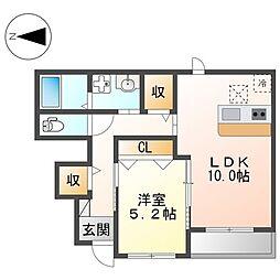 阪急京都本線 茨木市駅 徒歩25分の賃貸アパート 1階1LDKの間取り