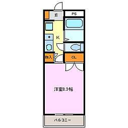 Phlox五反田[303号室]の間取り