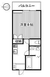 MIKIハイツIID[5号室号室]の間取り