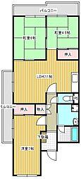 メゾントゥルース2階Fの間取り画像