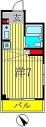 サンハウス新松戸[1階]の間取り