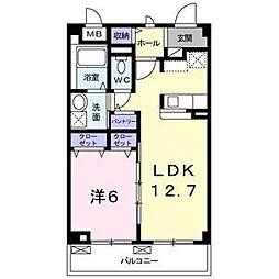 愛知県名古屋市緑区大高町字東森前の賃貸アパートの間取り