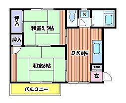 グリーンコーポ栄[2階]の間取り