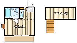 ハイムポロニエ[2階]の間取り