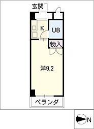 ハイツ桜田[2階]の間取り