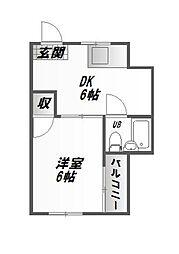 アートグリーンハイツ[2階]の間取り