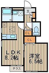 神奈川県横浜市中区山元町2丁目の賃貸アパートの間取り