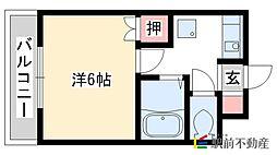 ピュアリティ筑紫野[3階]の間取り