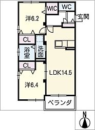 Rグレイ[2階]の間取り