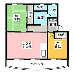 ドムアンSS[1階]の間取り