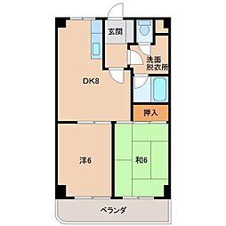 シャトー島田[5階]の間取り