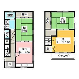 [一戸建] 愛知県海部郡大治町大字西條字須先 の賃貸【/】の間取り
