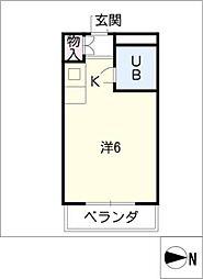 メゾンド・エム[3階]の間取り