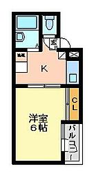 ギャラクシー[5階]の間取り