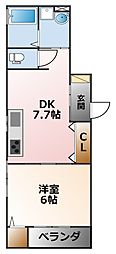 D-room甲子園[2階]の間取り