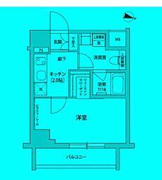 東京都江東区福住の賃貸マンションの間取り