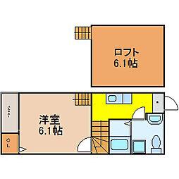 ドヌールV 草薙 (ドヌールファイブクサナギ)[2階]の間取り