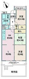 ルックハイツ鶴ヶ島[102号室]の間取り