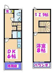 クリオネハウス[105号室]の間取り