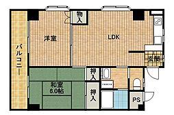 ボナール新城[103号室]の間取り