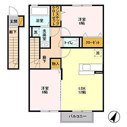 千葉県千葉市緑区あすみが丘東4丁目の賃貸アパートの間取り